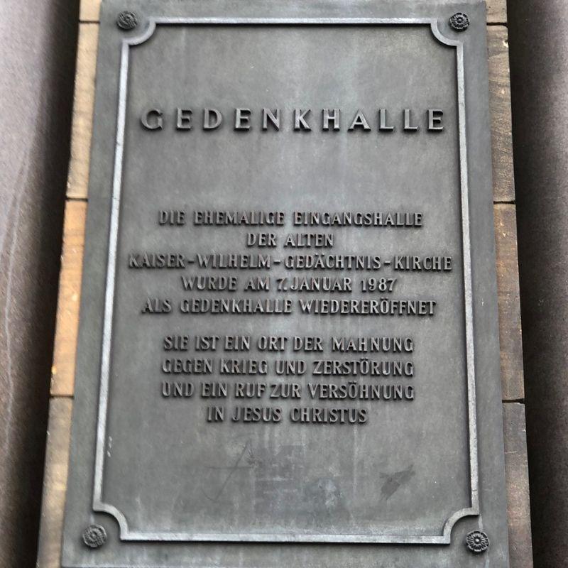 Classik Hotel Collection Gedenkhalle Gedächtniskirche Berlin